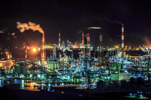 瀬戸内海の夕景と水島コンビナート工場夜景クルージング