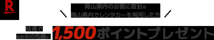 レンタカーでぐるっとめぐる#映えの国岡山 ポイントキャンペーン