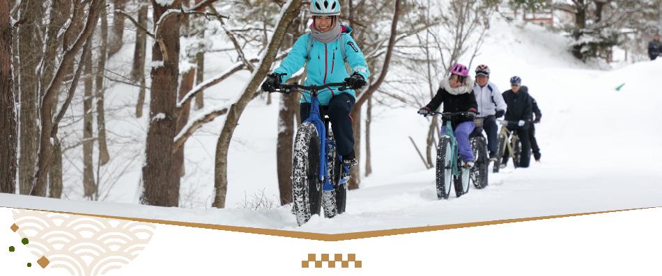 雪上ファットバイク(蒜山サイクリングサービス)