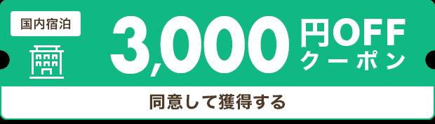 3,000円割引クーポン