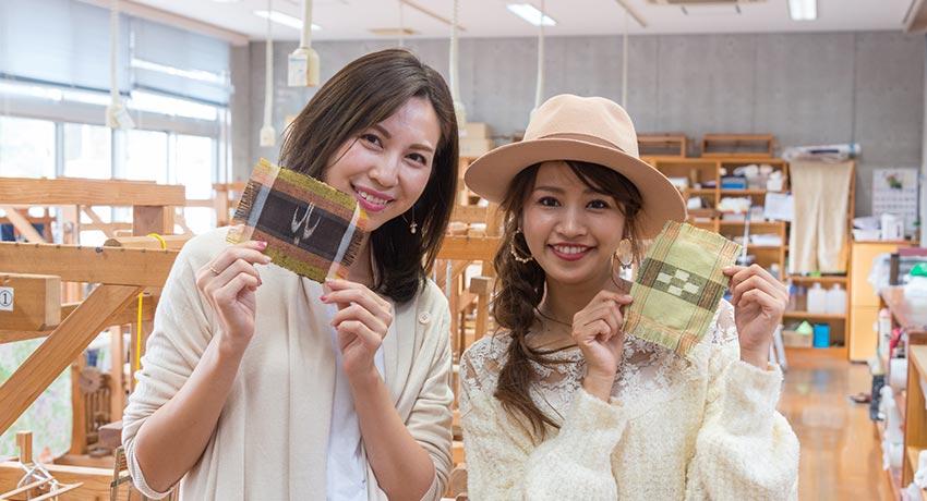 国指定重要無形文化財の「久米島紬」を織る!