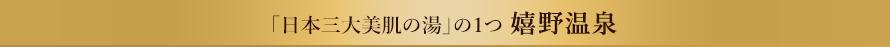 「日本三大美肌の湯」の1つ 嬉野温泉