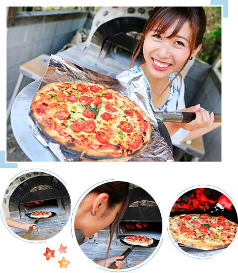 石窯焼き体験 青空の下、絶品 『石窯ピザ』に挑戦