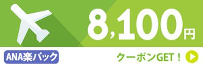 ANA楽パック8,100円クーポン
