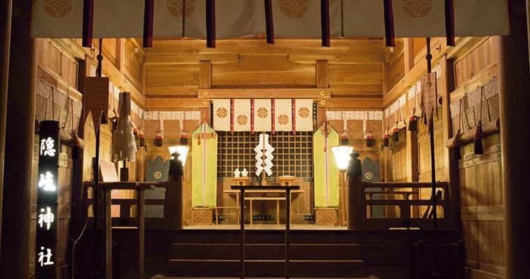 夜の隠岐神社まいり(海士町)