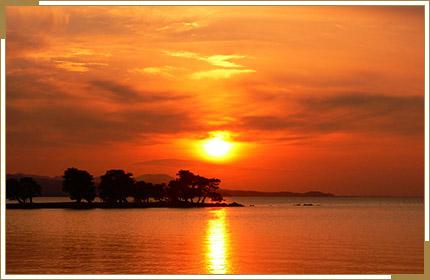 夕日が刻一刻と表情を変える日本百景 宍道湖