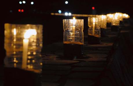 月と星空 熱川温泉キャンドルナイト