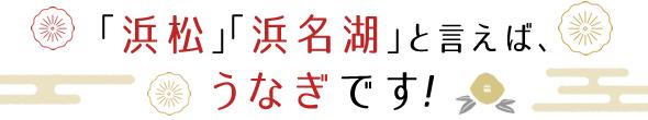 「浜松」「浜名湖」と言えば、うなぎです!