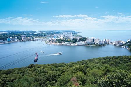 大草山からの眺望(堀江城)