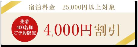 4,000円割引クーポン