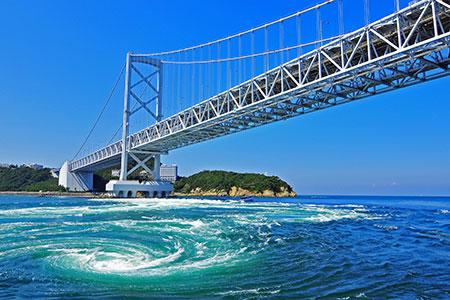 鳴門の渦潮と大鳴門橋架橋記念館エディ