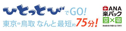 東京からダイレクトアクセス!羽田から鳥取砂丘コナン空港まで約75分