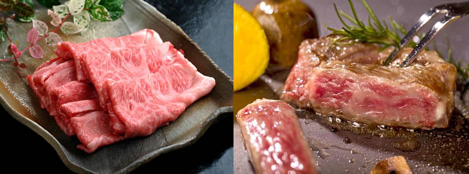 鳥取和牛の料理