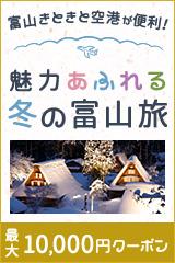 富山きときと空港が便利!ANA楽パックで行く魅力あふれる冬の富山旅