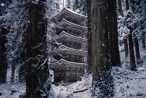 羽黒山 三神合祭殿・五重塔