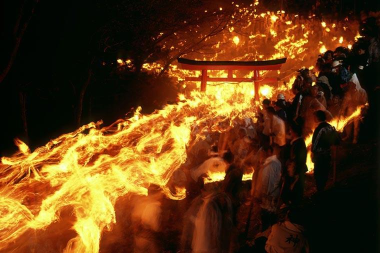 神倉神社のお燈祭り