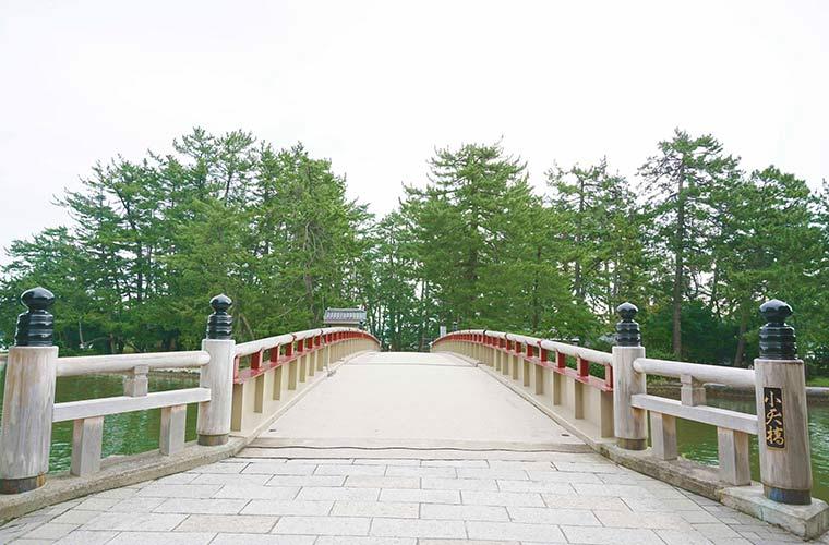珍しい廻旋橋として知られる小天橋