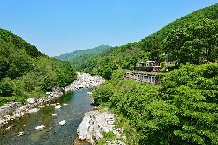 わたらせ渓谷鉄道/高津戸峡