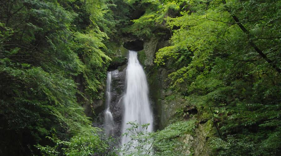 Nagasawa Falls with Heart-shaped Opening