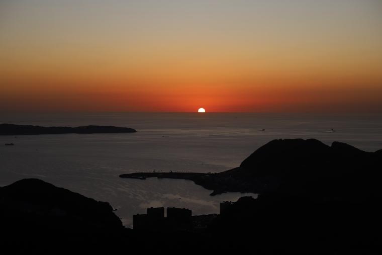 稲佐山展望台からの夕日