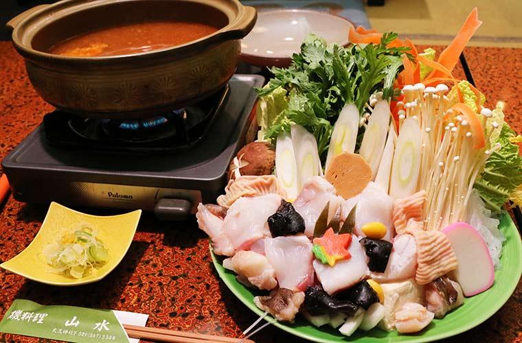 茨城名物のあんこう鍋
