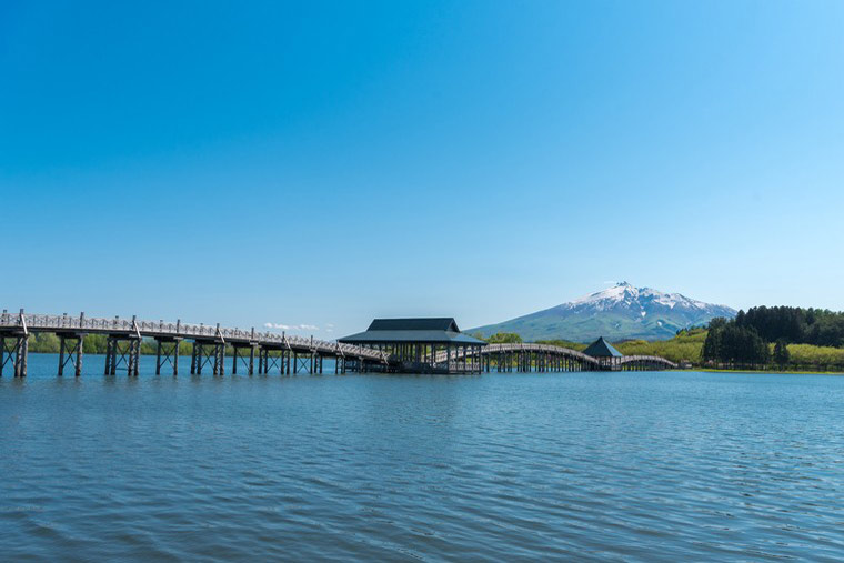 五能線沿線「鶴の舞橋」