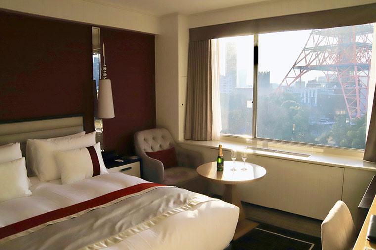 東京プリンスホテル最上階のクラブフロア