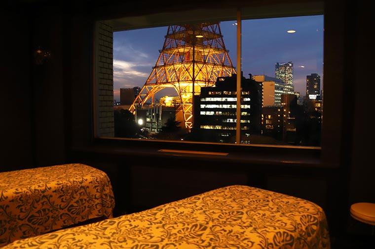 東京タワーを見ながら極上の癒しを体験できる「SPA IBUKI」