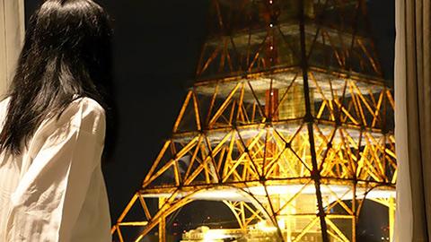 東京タワーは一番近いホテルからどう見える?