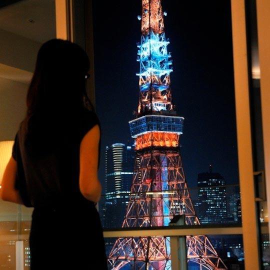 ザ・プリンス パークタワー東京 バルコニーからの東京タワー