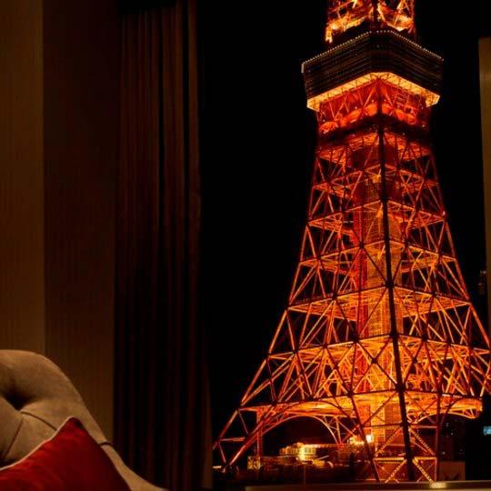 東京プリンスホテル 客室から見る東京タワー