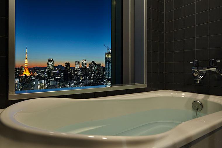 三井ガーデンホテル銀座プレミア 東京タワービューバスルーム