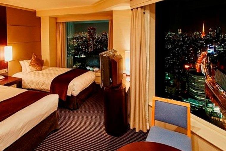 品川プリンスホテル メインタワーコーナーツインルーム(35階以上)