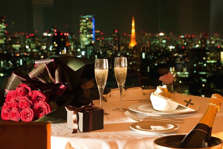 セルリアンタワー東急ホテル シャンパンディナー
