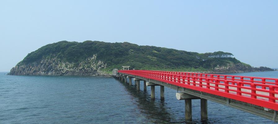 Jangan memutar melawan arah jarum jam di Pulau Oshima