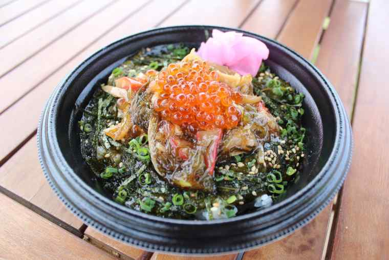 角島テラスのいくら入りアカモク海鮮丼