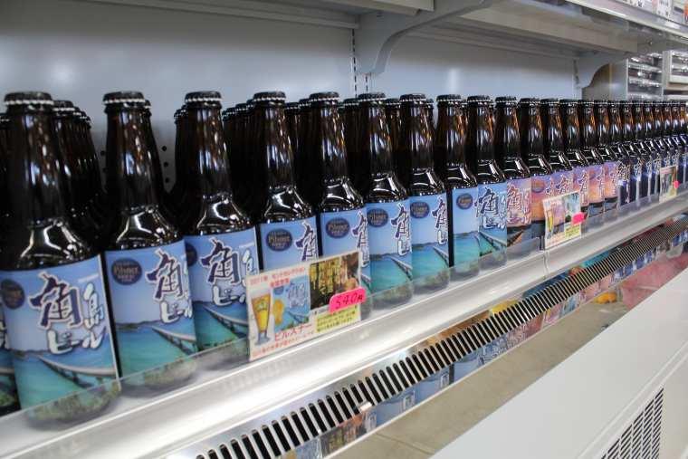 角島ビールなど地元・角島の食材がいっぱい