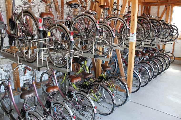 大人から子ども用まで種類豊富な自転車が揃う