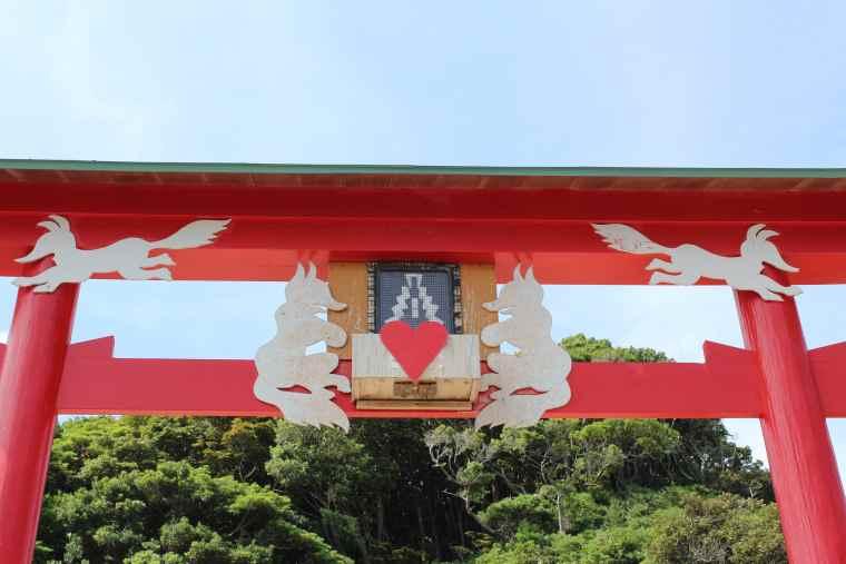 元乃隅神社の日本一入れるのが難しいお賽銭箱
