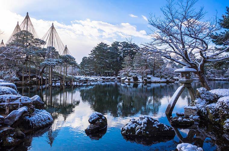 兼六園の「雪吊り」