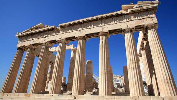 古代ギリシャの「パルテノン神殿」