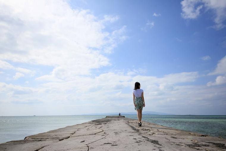 竹富島のビーチ