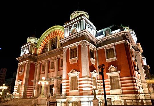 中之島公会堂(大阪市中央公会堂)のライトアップ