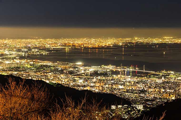 六甲山系摩耶山の夜景