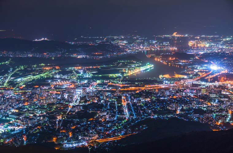 皿倉山の夜景