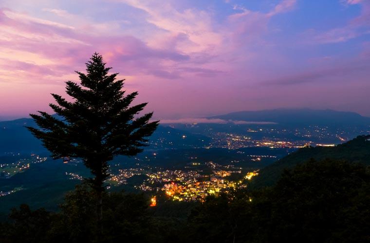 高根展望台の夜景