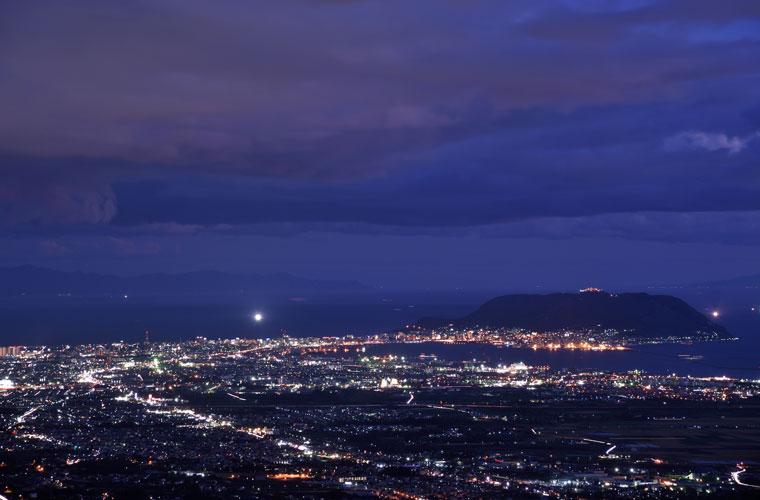 城岱牧場展望台(管理棟展望台)の夜景