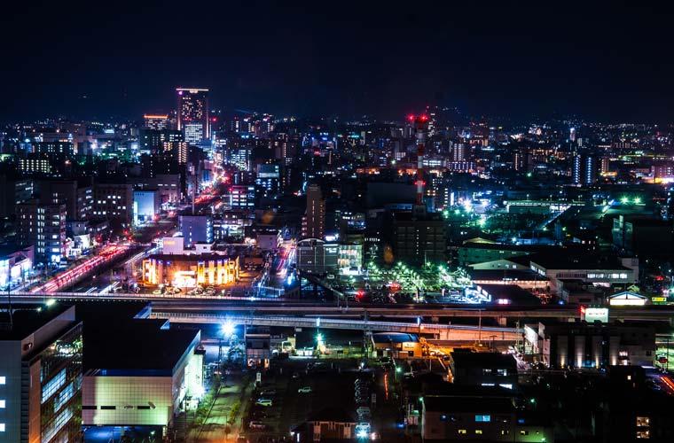 石川県庁の夜景