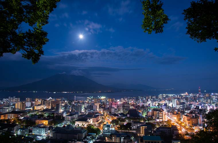 城山展望台の夜景