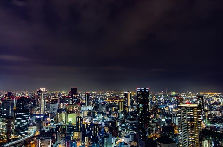 梅田スカイビル 空中庭園展望台の夜景